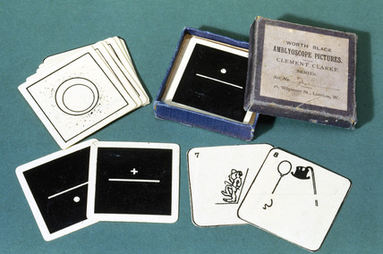 Set of slides for use with a Worth amblyoscope, c 1890-1910.