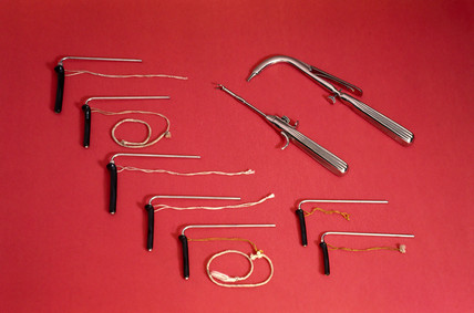 O'Dwyer paediatric intubation set, 1905-1920.
