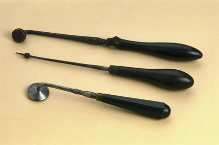 Cautery instruments, 19th century.