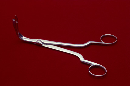 Laryngeal forceps, early 20th century.