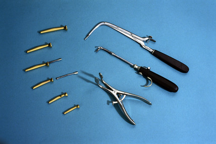 O'Dwyer's intubation set, late 19th century.