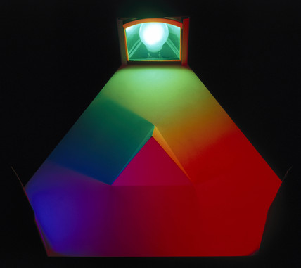 Colour mixing triangle, 1954-1960.