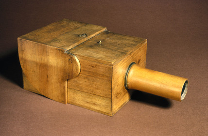 Camera obscura used by Fox Talbot, c 1820.