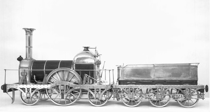 Gooch's standard locomotive, 1840. The 2-2-