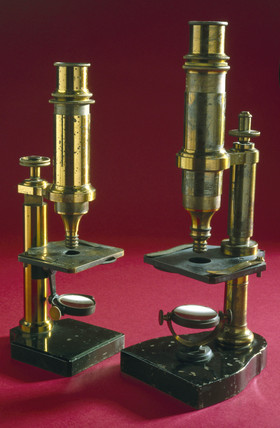 Microscopes used by Louis Pasteur and Joseph Lister, late 19th century.