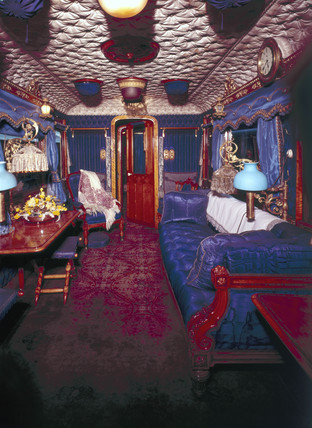 Queen Victoria's royal saloon, L&NWR carriage, 1869.