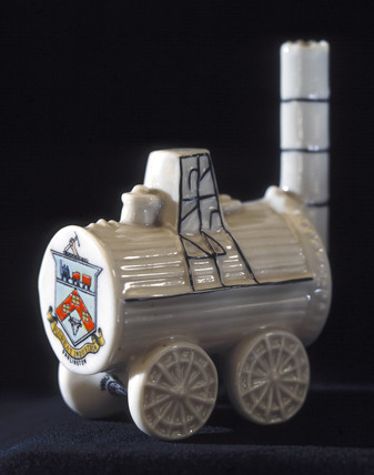 Ceramic ornament representing 'Locomotion'.