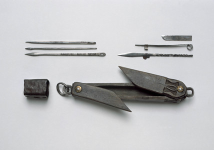 Surgical instrument set, Indian, 19th century.