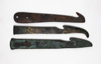 Three knives, Egyptian, 2000-100 BC.