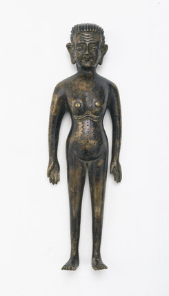 Bronze figure showing acupuncture points, Chinese, early 18th century.