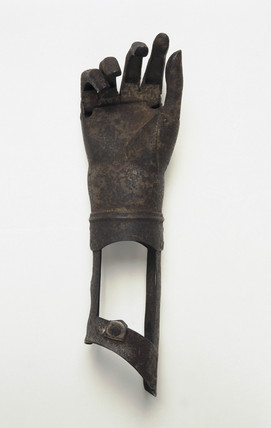 Artificial hand and forearm, 17th century.