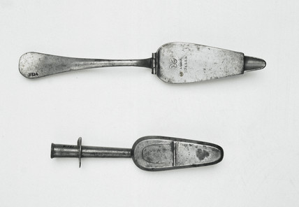 Two Gibson spoons, 19th century.