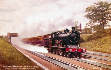 'Liverpool-Manchester Expres', c 1900.