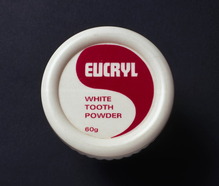 Pot of Eucryl toothpowder, c 1965-1975.