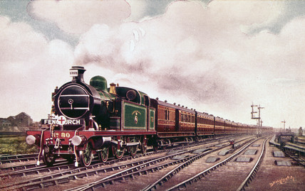 London, Tilbury & Southend Railway expres commuter train, c 1910