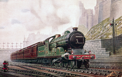 North Eastern Railway 4-4-2 locomotive no 794, c 1905.