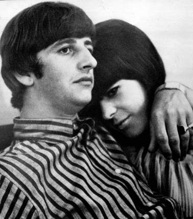 Beatle Ringo Starr, and his girlfriend, later his wife, Maureen Cox, 1964.