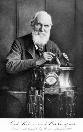 'Lord Kelvin and his compas', 1902.