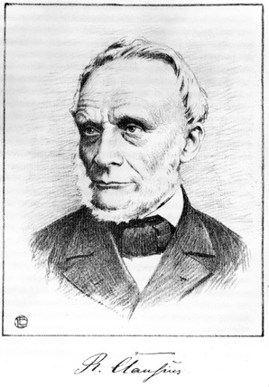 Rudolf Clausius, German theoretical physicist, 1880-1888.