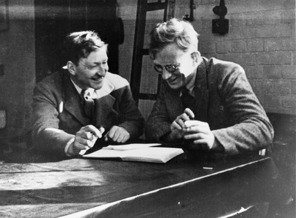 John Cockcroft and George Gamow, c 1930.