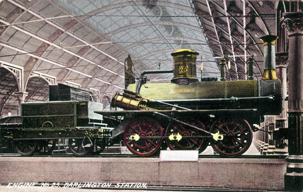 'Derwent' 0-6-0 goods locomotive no 25, Darlington Station, c 1895.