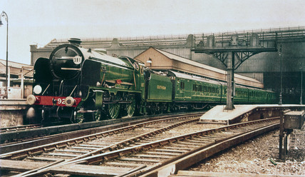 Southern Railway in new light green livery, circa 1935.