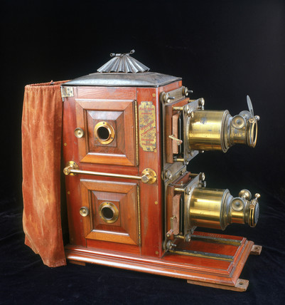 Monarch Ethopticon magic lantern, c 1880.