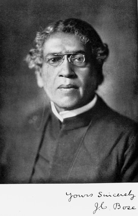 Sir Jagadis C Bose, Indian physicist and botanist, c 1920.