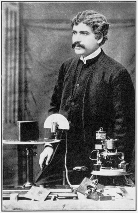 Sir Jagadis C Bose, Indian physicist and botanist, 1896.