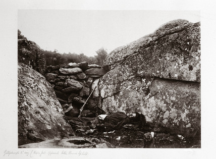Home of a rebel sharpshooter, Gettysburg, Pennsylvania, July, 1863.
