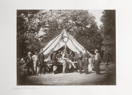Gettysburg field hospital, Pennsylvania, USA, July, 1863.