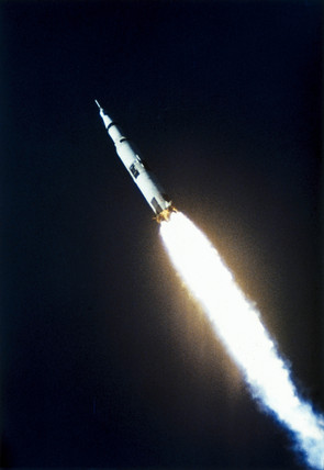 First launch of the Saturn V rocket, 9th November, 1967.