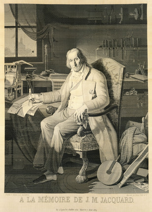Joseph Marie Jacquard, inventor of the Jacquard loom, 1839