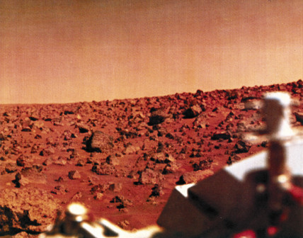 The surface of Mars from a Viking lander, 1976.