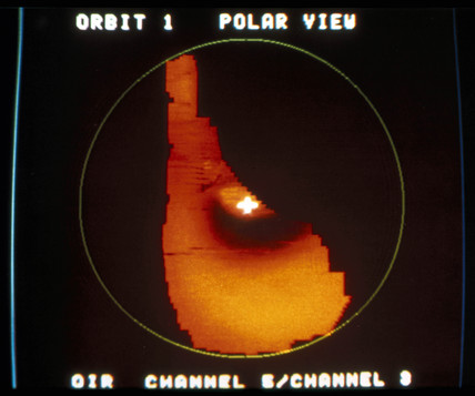 Infrared picture of Venus from the Pioneer Venus Orbiter, 1978.