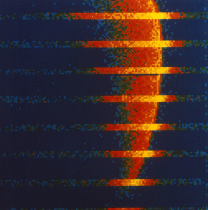 Computer generated picture of the atmosphere of Venus, 1978.