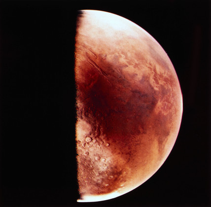 View of Mars from a Viking Orbiter, 1976.