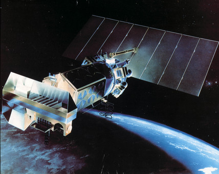 Artist's impresion of the TIROS N meteorological satellite, 1978.