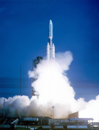 Launch of Voyager 1 spacecraft, 5th September 1977.