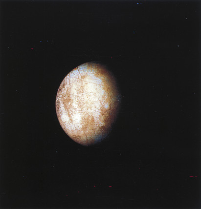Europa, one of the moons of Jupiter, 1979.