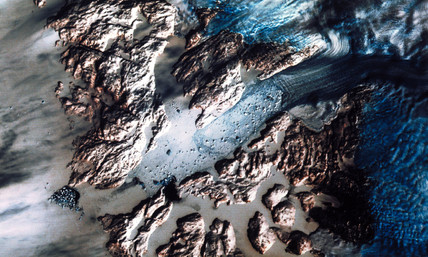 Landsat image of the Greenland Glacier, 1982.
