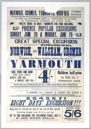 'Great Special Excursion', GNR handbill, c 1900.