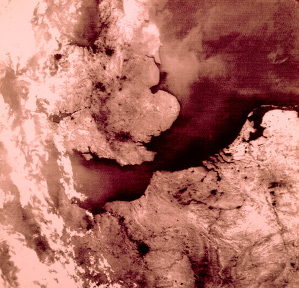 Infrared picture of part of north-west Europe from space, 1978.