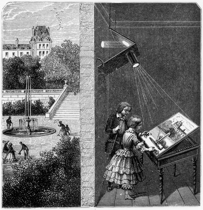 Table camera obscura, 19th century.