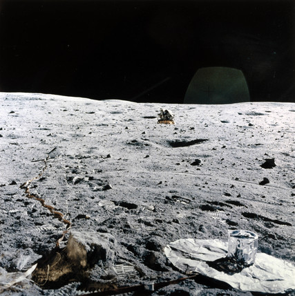 Apollo Lunar Module on the Moon, 1971-1972.