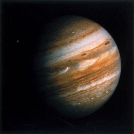 The planet Jupiter, Voyager 1979.