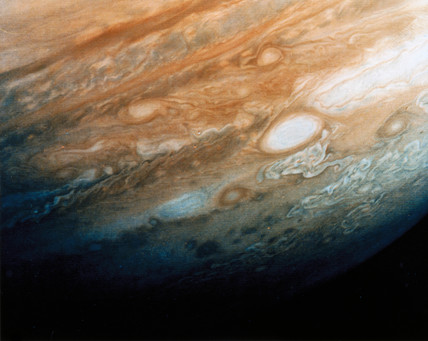 Close up of the cloud patterns of Jupiter, 1979.