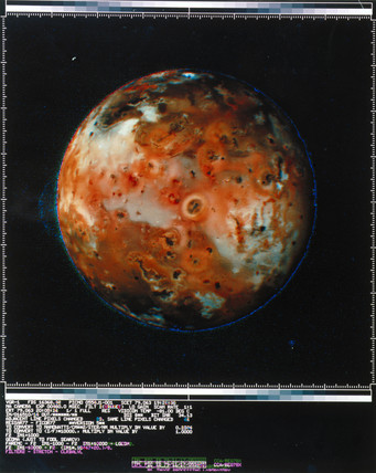 Full view of Io, one of the moons of Jupiter, 1979.