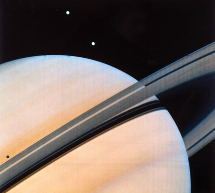 Saturn and its rings, 1980.