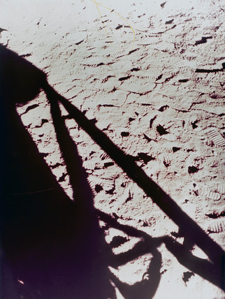 Shadow of the Lunar Module on the Moon, 1971-1972.